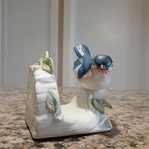 Other - Ceramic bird on log napkin holder